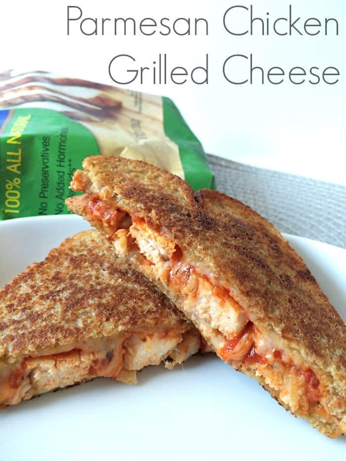 Parmesan Chicken Grilled Cheese Sandwich