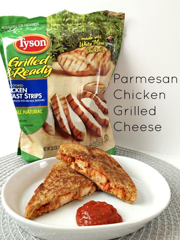 Parmesan Chicken Grilled Cheese