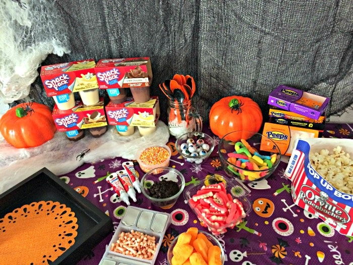 Halloween Pudding Cup Creation Station