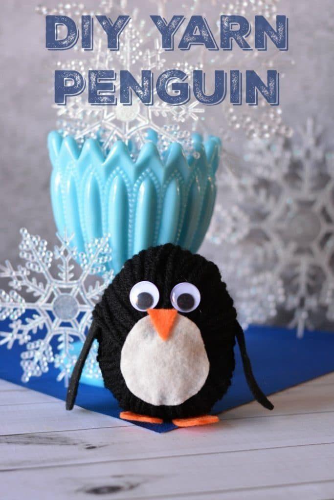 DIY Yarn Penguin Craft