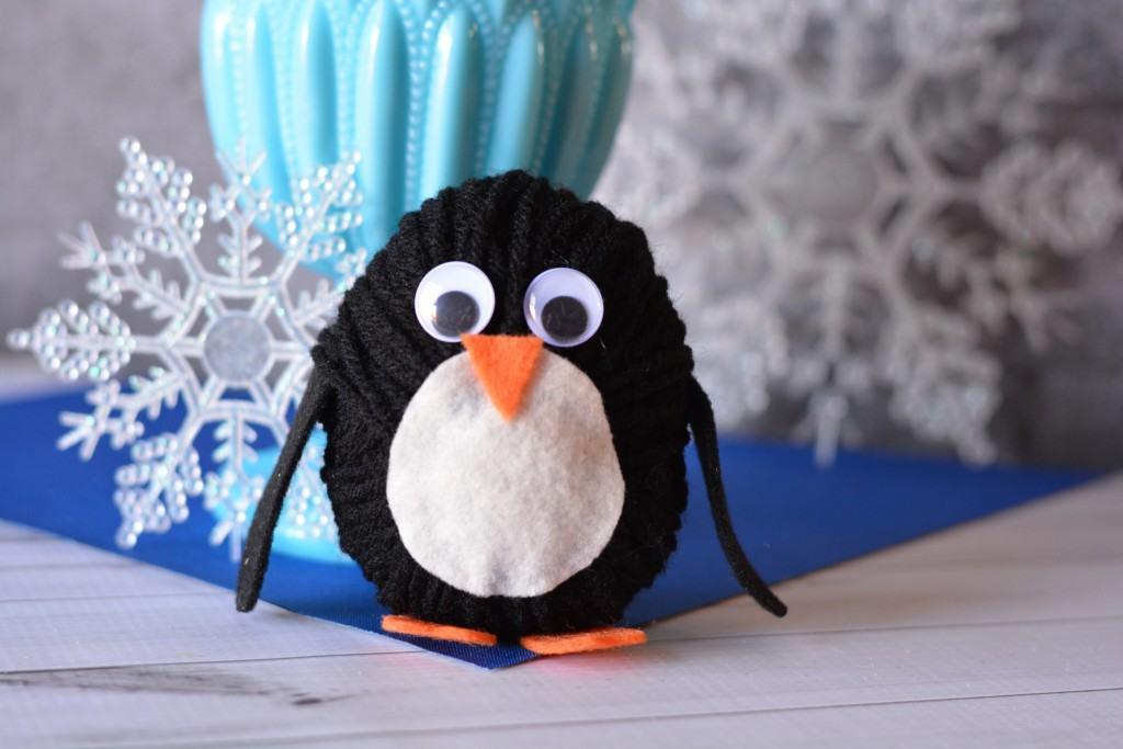 DIY Yarn Penguin
