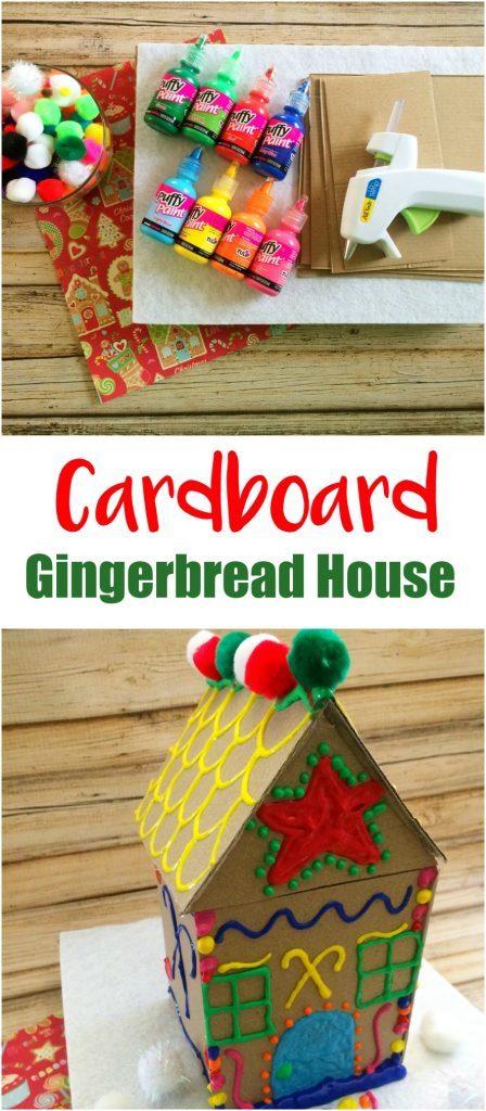Cardboard Gingerbread House Craft