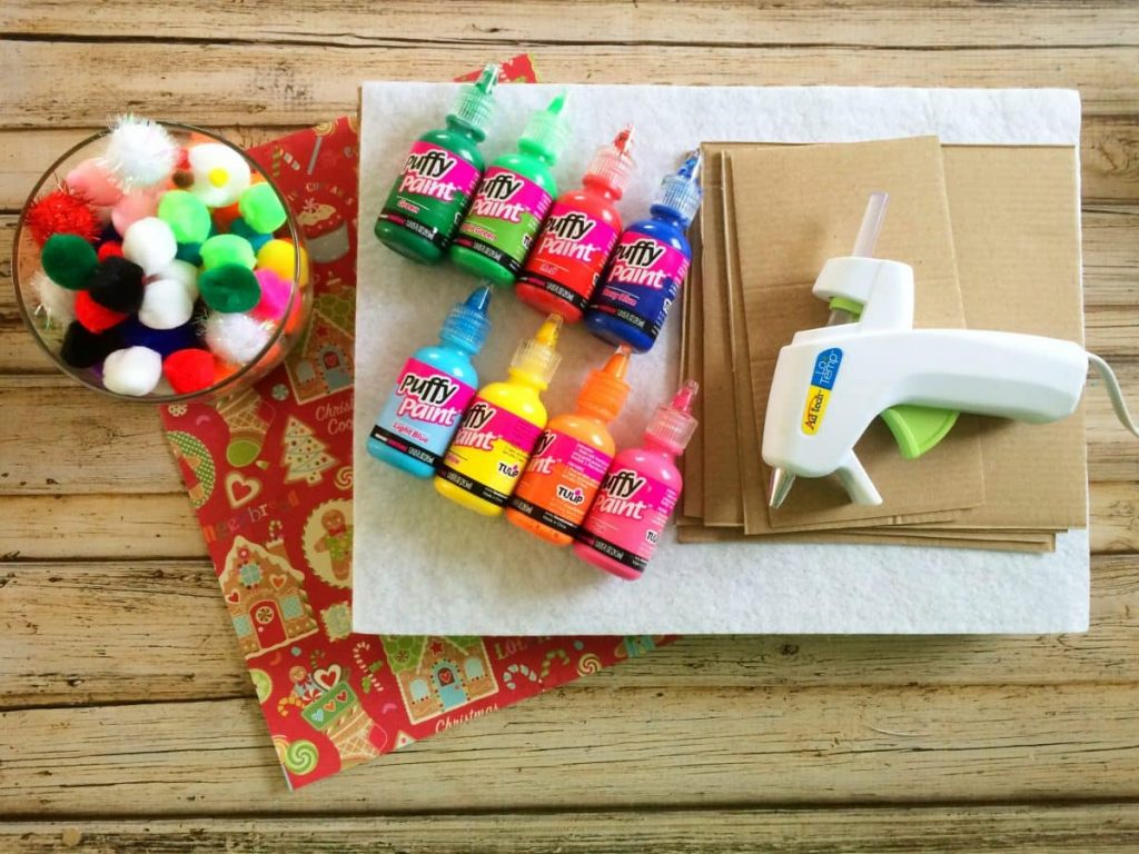 Cardboard Gingerbread House supplies for building