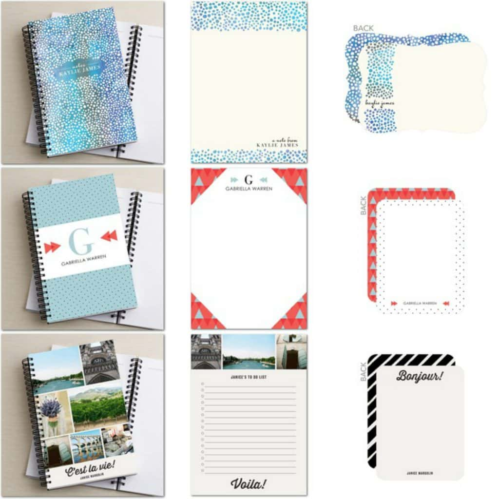 Personalized stationery sets from Tiny Prints