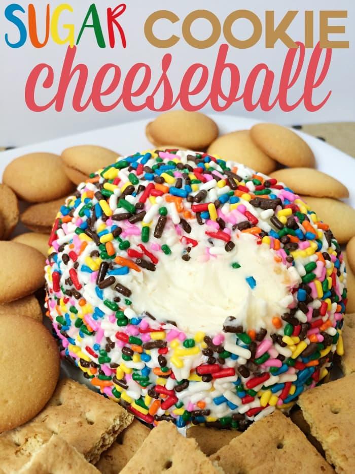 Sugar Cookie Cheeseball dessert dip recipe