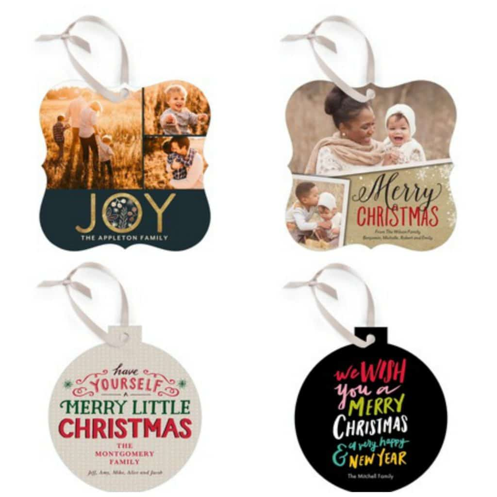 Tiny Prints Christmas Card Ornaments