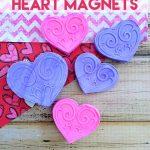 DIY Valentine's Day Heart Magnets