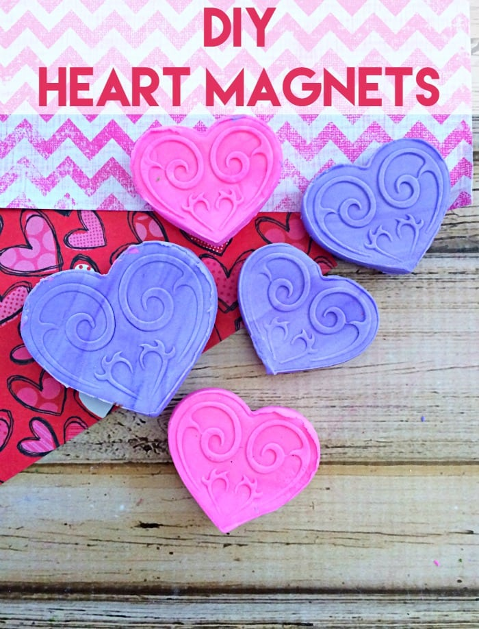 DIY Heart Magnets