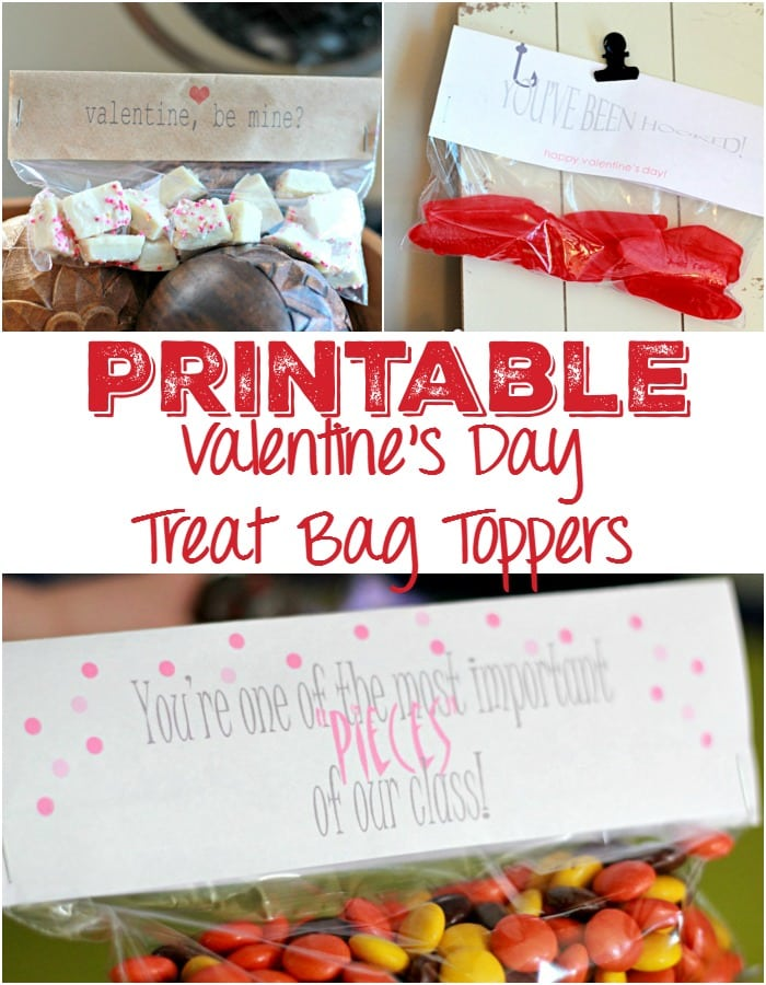 Printable Valentine's Day Treat Bag Toppers