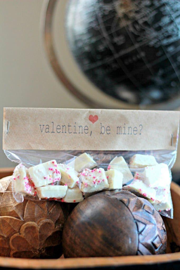 Valentine Be Mine candy bag printable topper