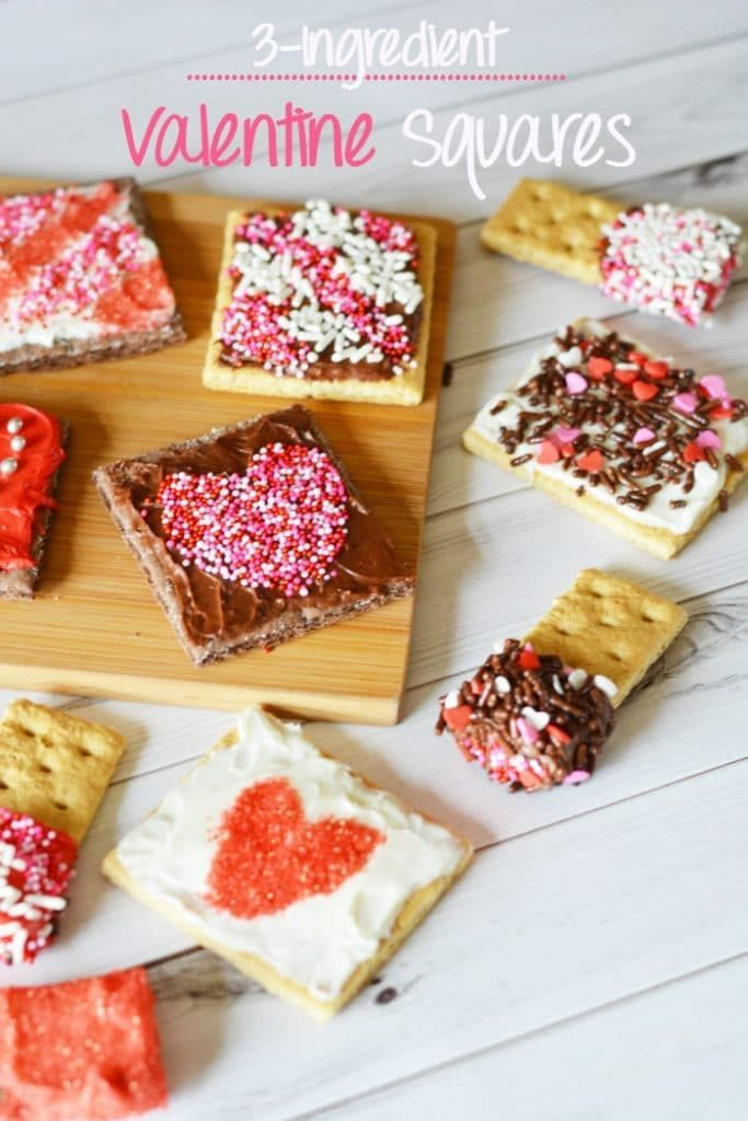 Easy 3 Ingredient Valentine Squares