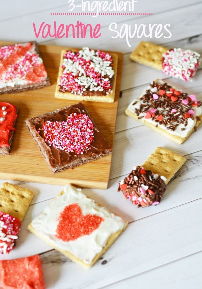 Easy 3 Ingredient Valentine Squares