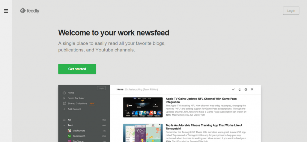 feedly for blog inspiration