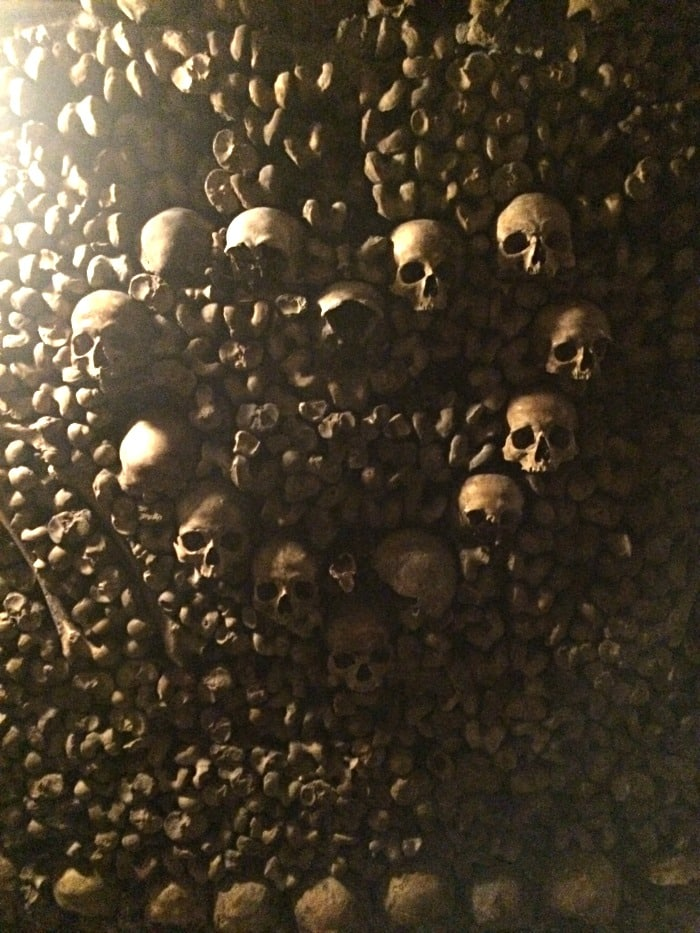 skulls in the shape of a heart catacombs