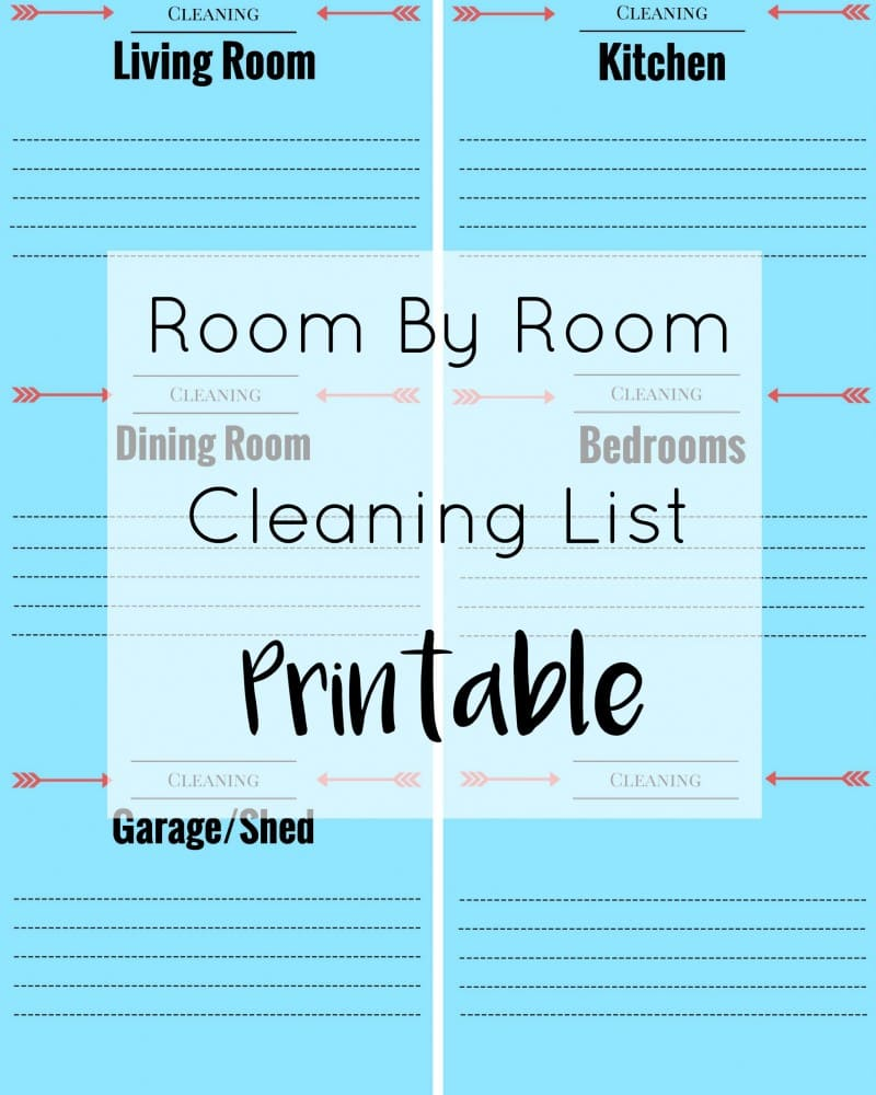 Cleaning List Printable from Moments With Mandi