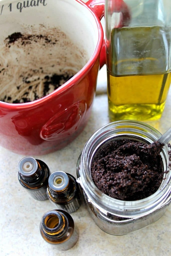 Make your own exfoliating coffee scrub