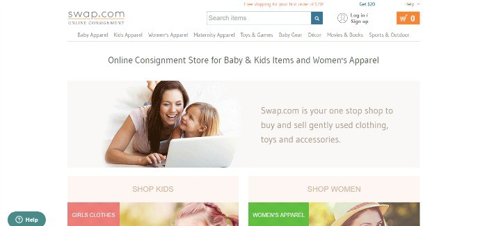 Swap.com   Buy and sell pre owned kids  and women s items